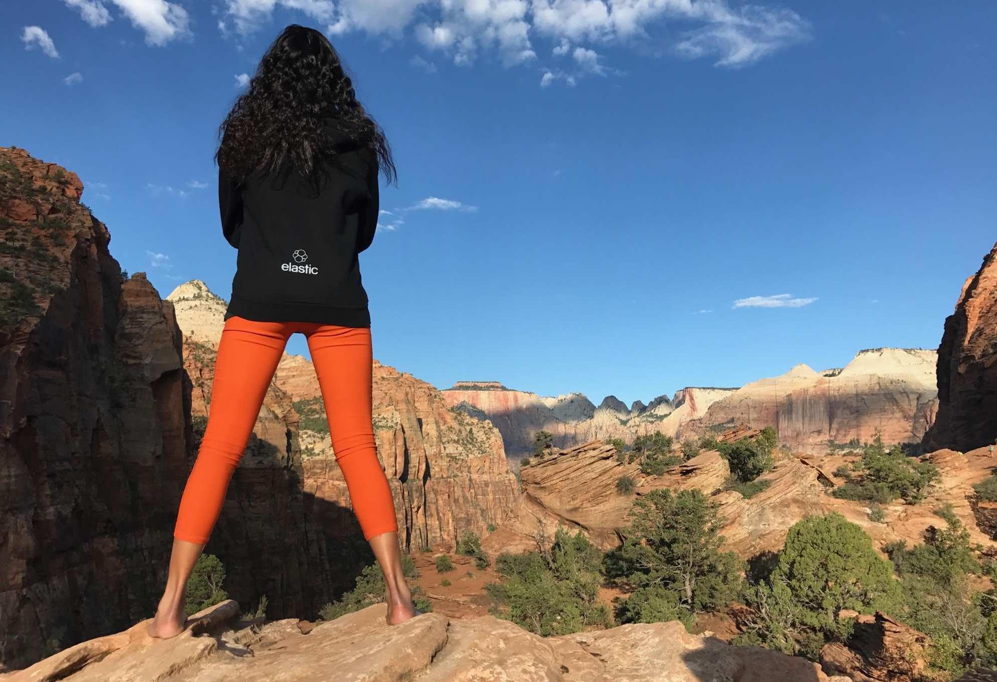 Celine on mountain range