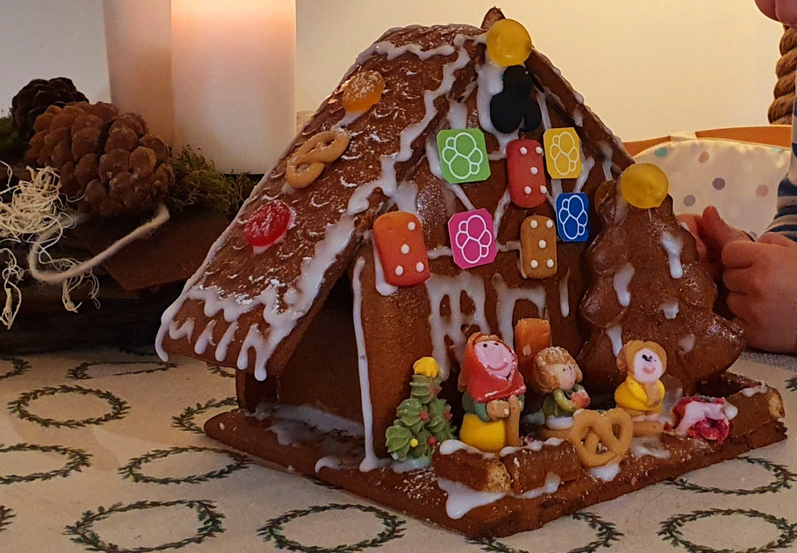 Gingerbread house with a manger