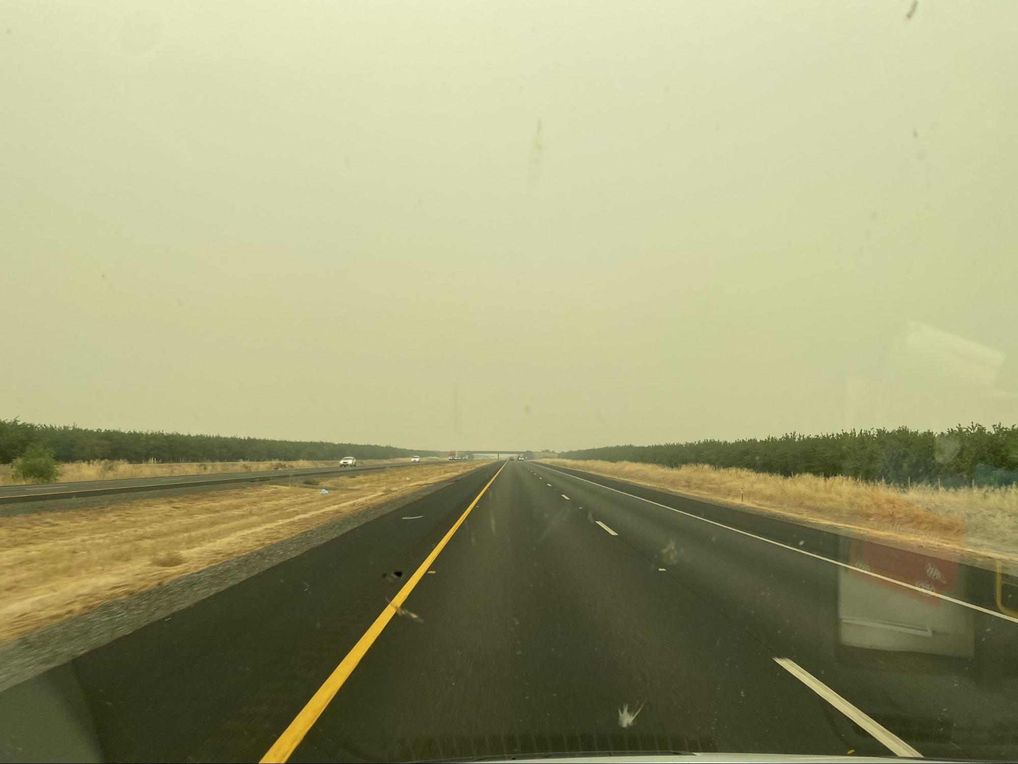 Smoky skies across Northern, CA.