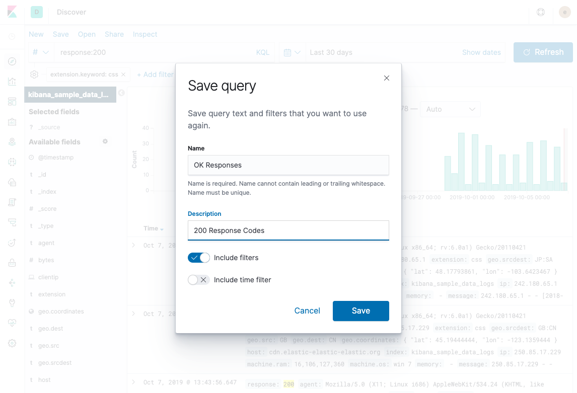 Saving your query for reuse