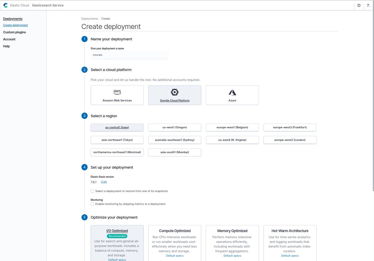 Creating a cloud deployment
