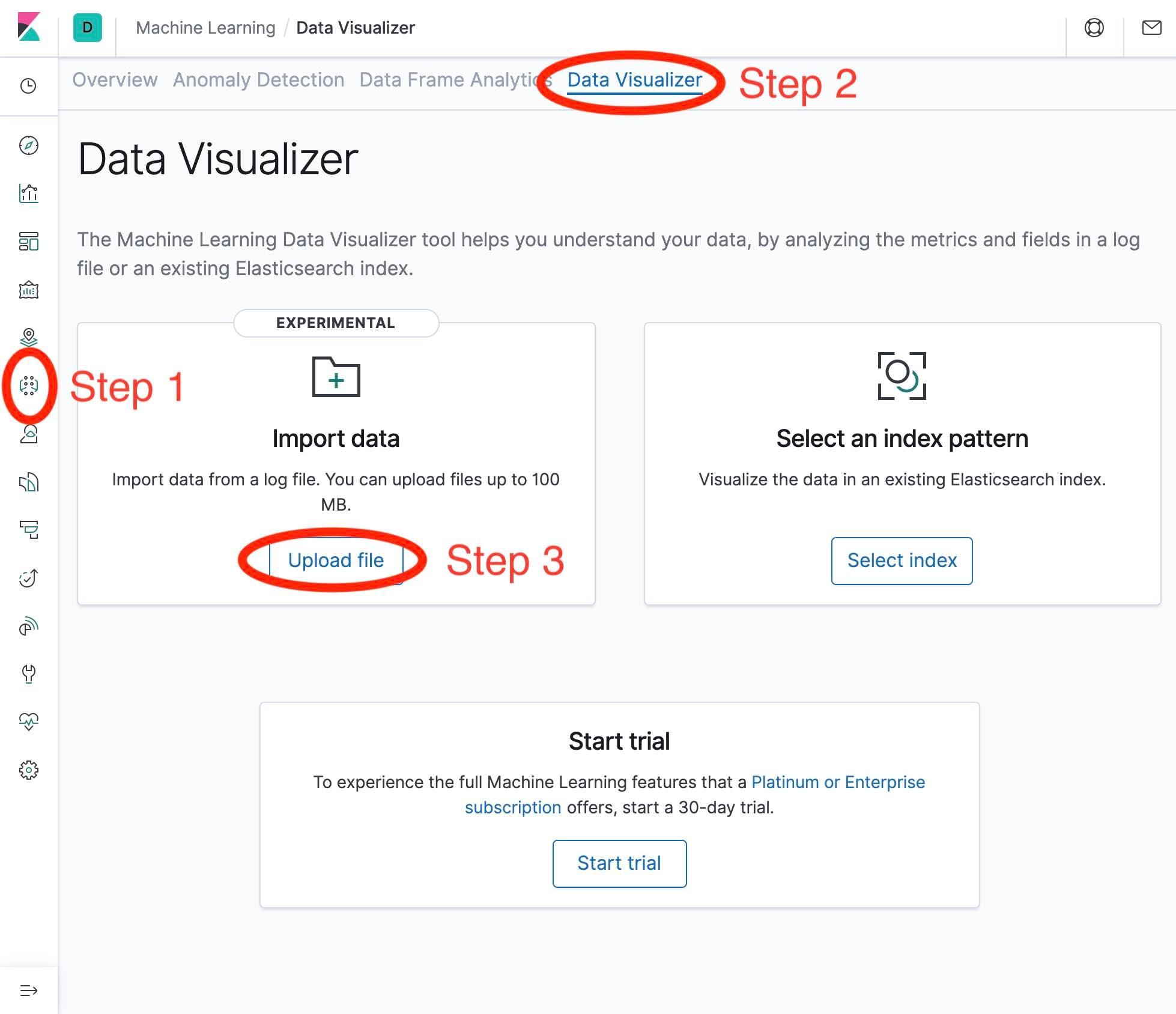 File Data Visualizer Import in Kibana