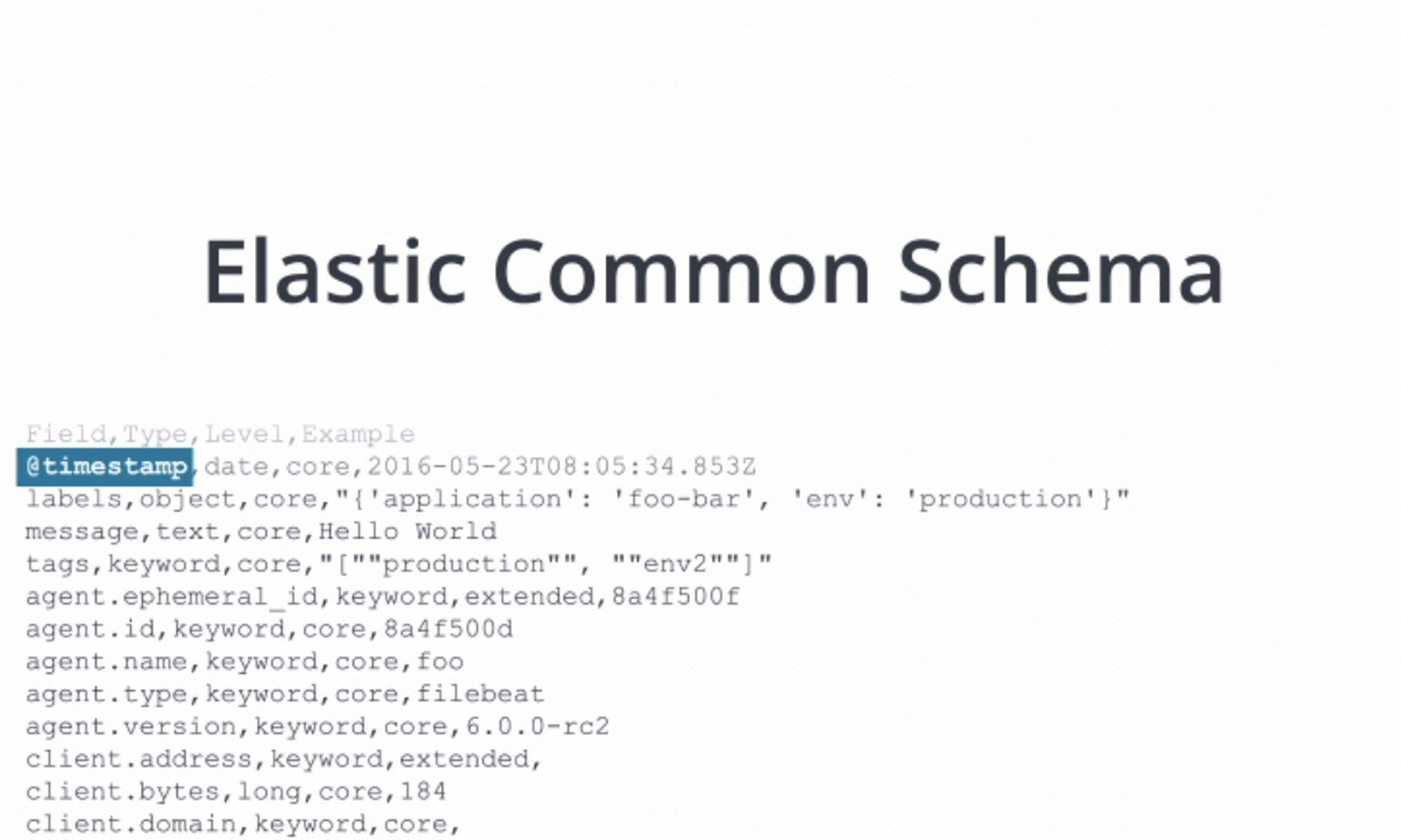 Elastic Common Schema (ECS) 入門介紹