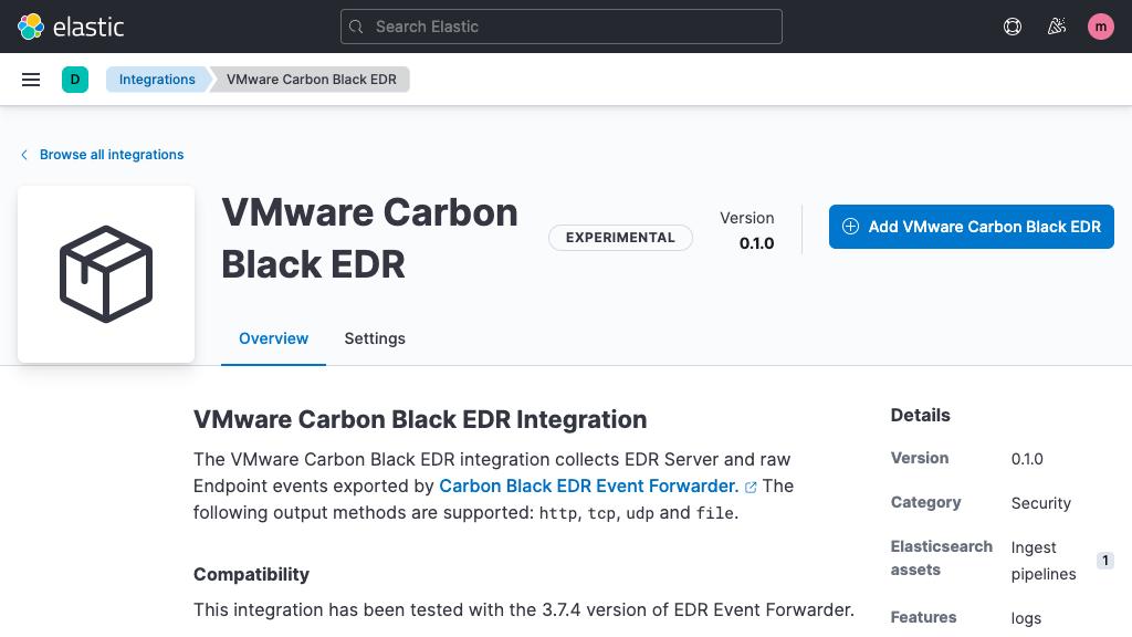 Carbon Black EDR integration
