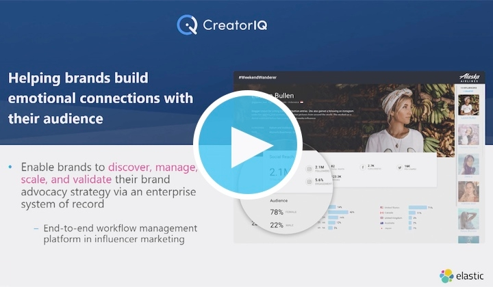Watch the full CreatorIQ presentation from Elastic{ON} Tour Anaheim