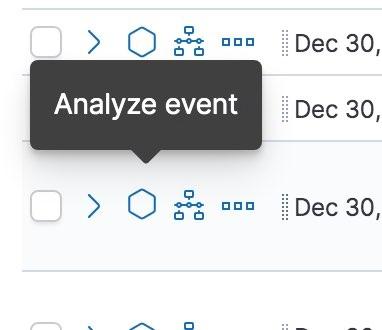 Icône d'analyse de l'événement