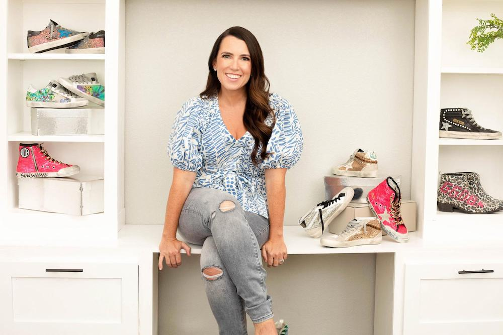 Melissa Humble with her shoe collection.