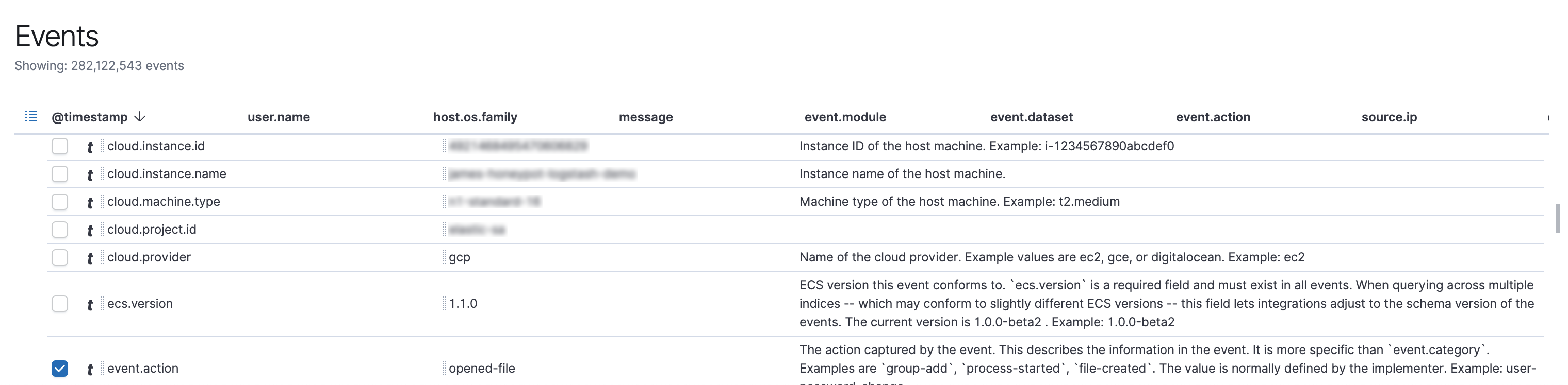 Ingest GCP events in ECS format and view them in the SIEM app