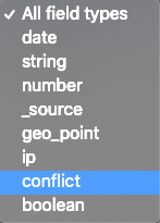 Choosing conflict for the data type selector