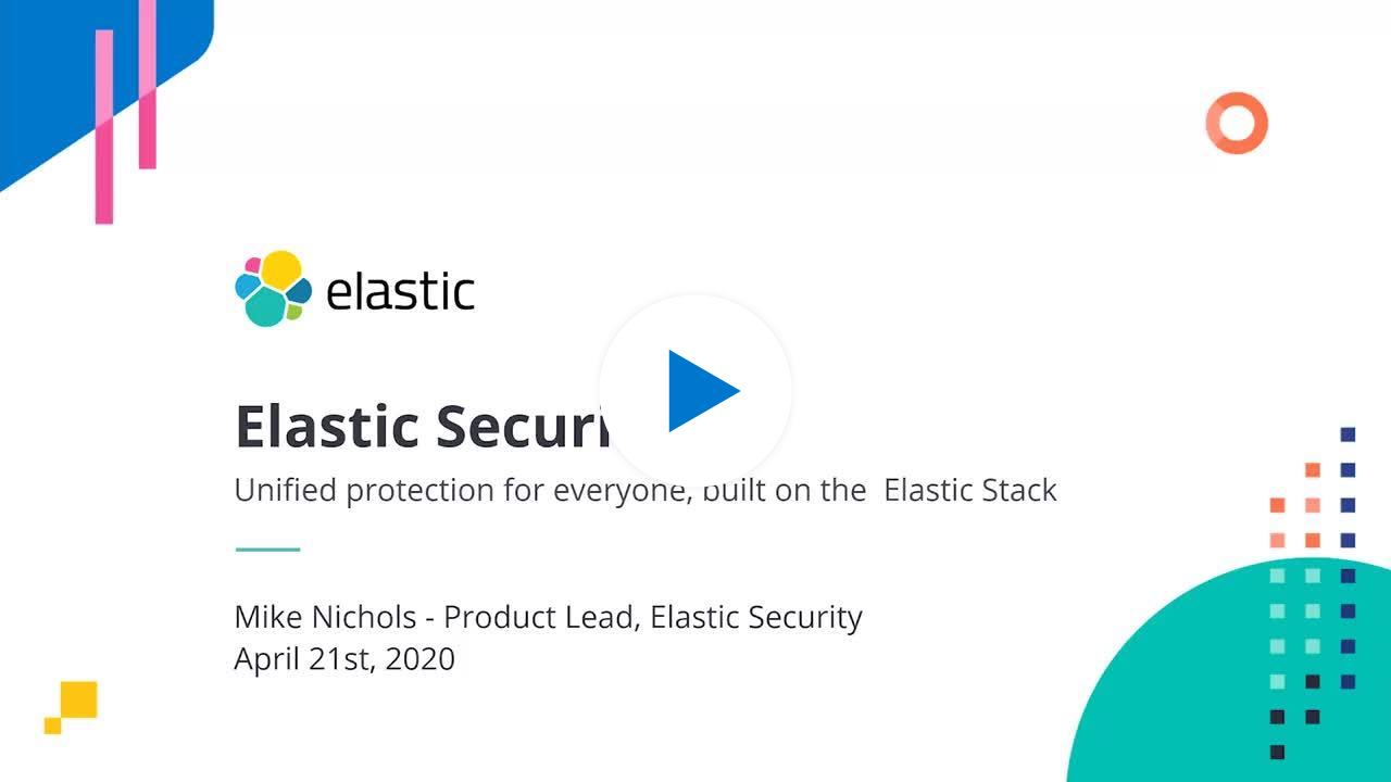 Watch the session on Elastic Security