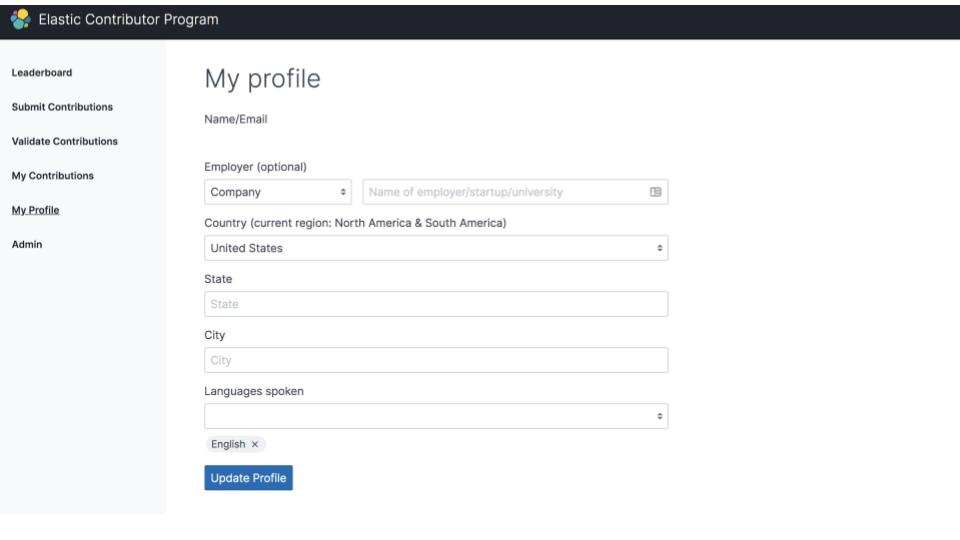Elastic Contributor Program profile