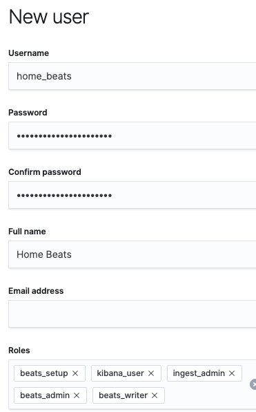 Create Home_beats user