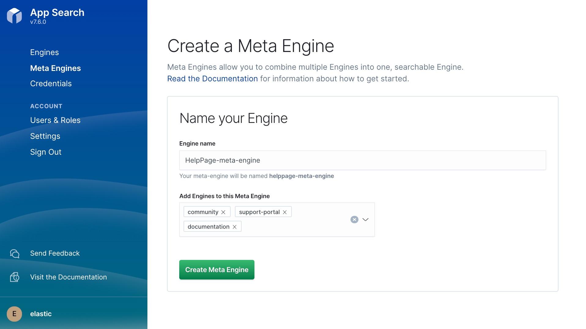 Creating a new meta engine