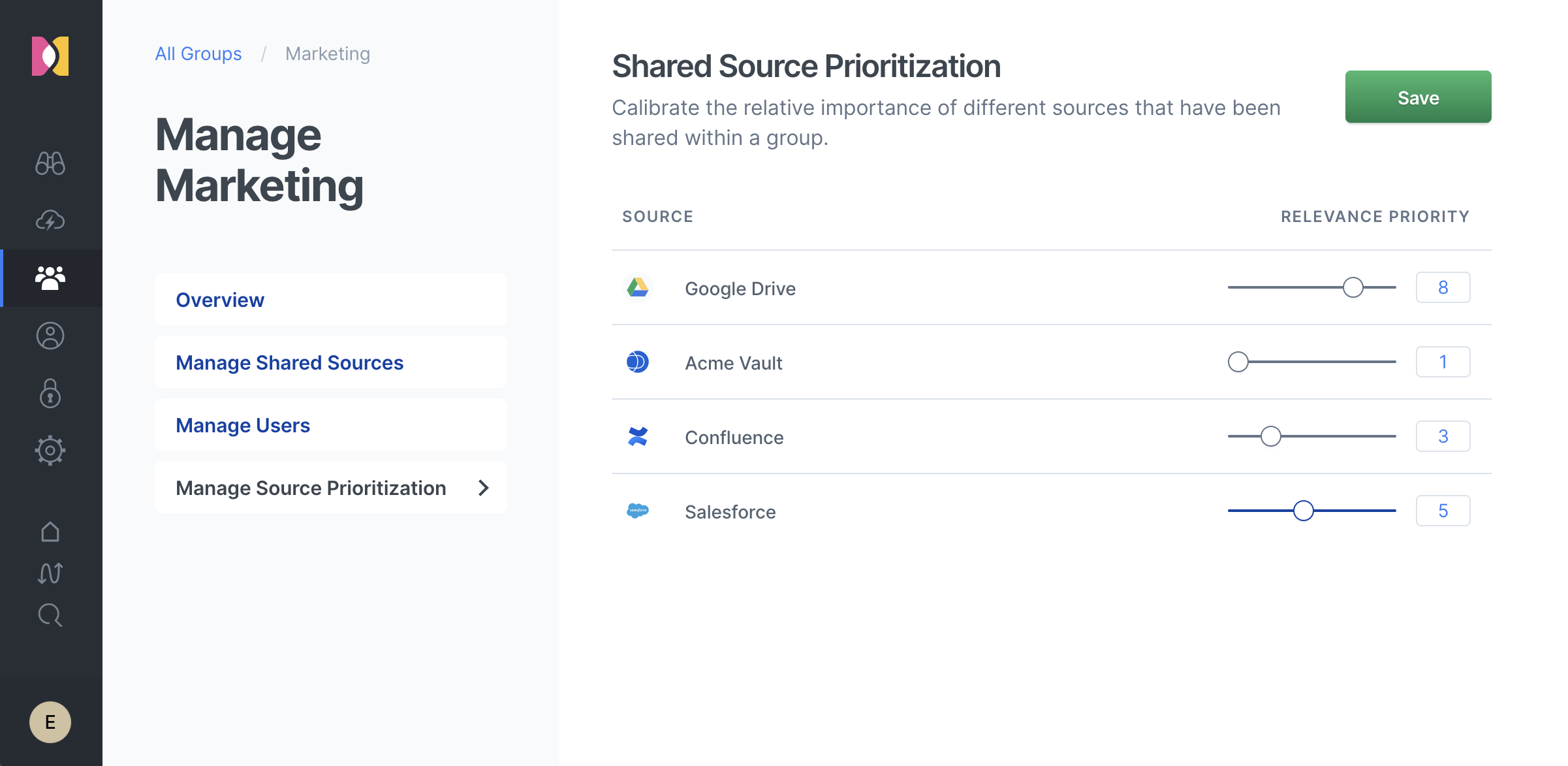 Adjusting the prioritization of Google Drive search results