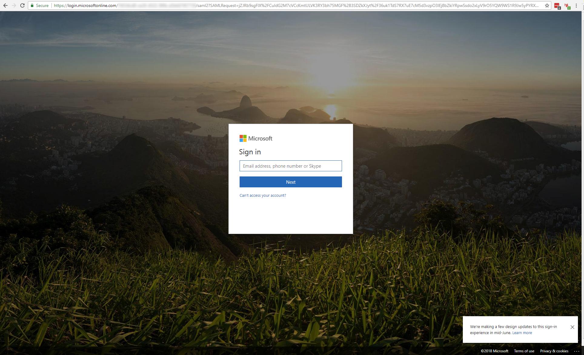 Microsoft sign in