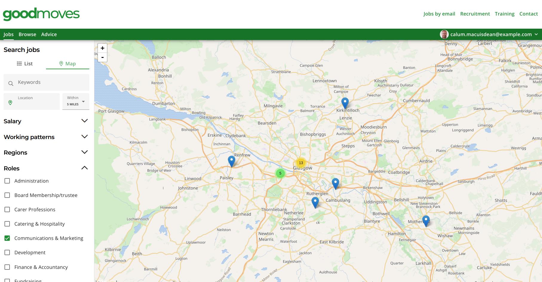 Screenshot of Goodmoves website