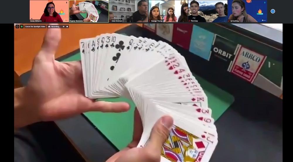 Card tricks at Summer Camp!