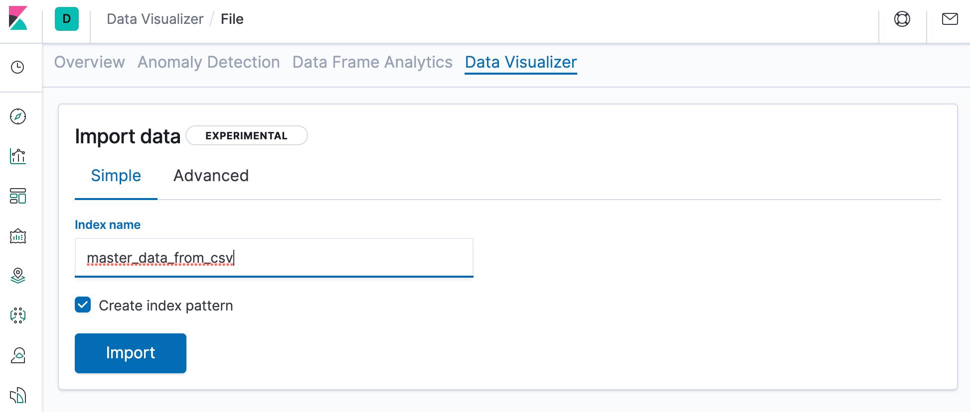 Name your new Elasticsearch index