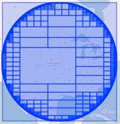 Point radius circle using Lucene's quadtree implementation
