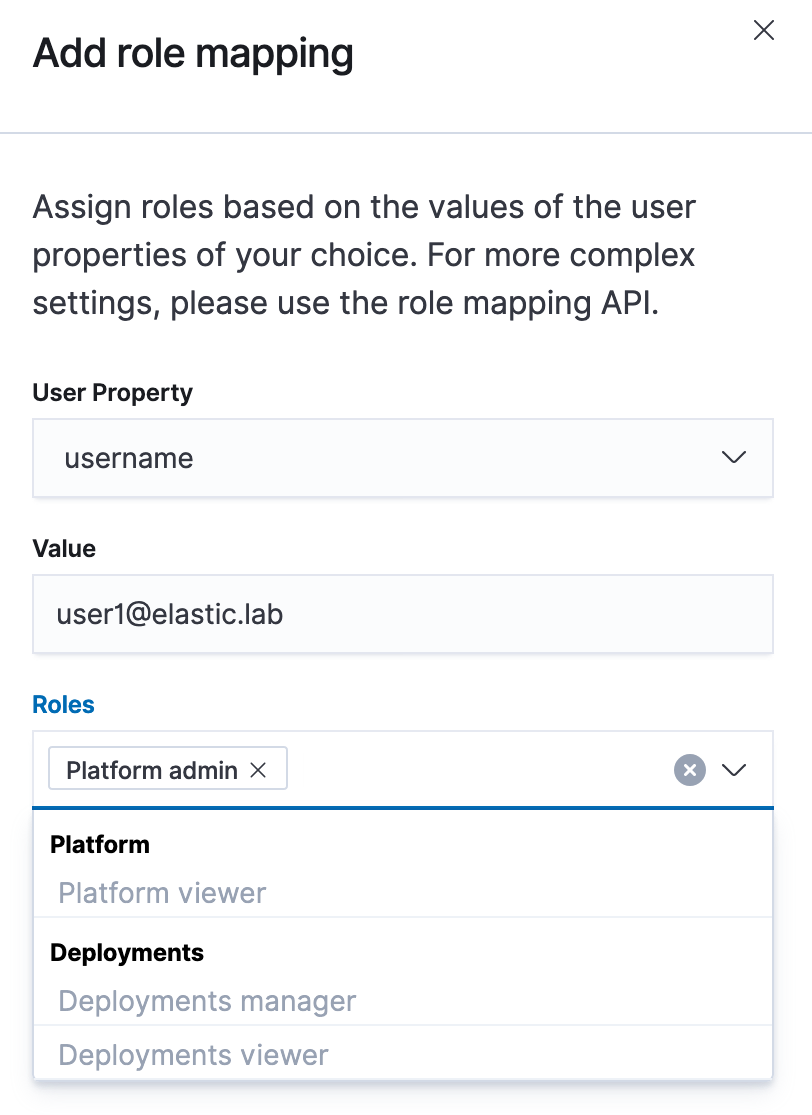 Add a role mapping