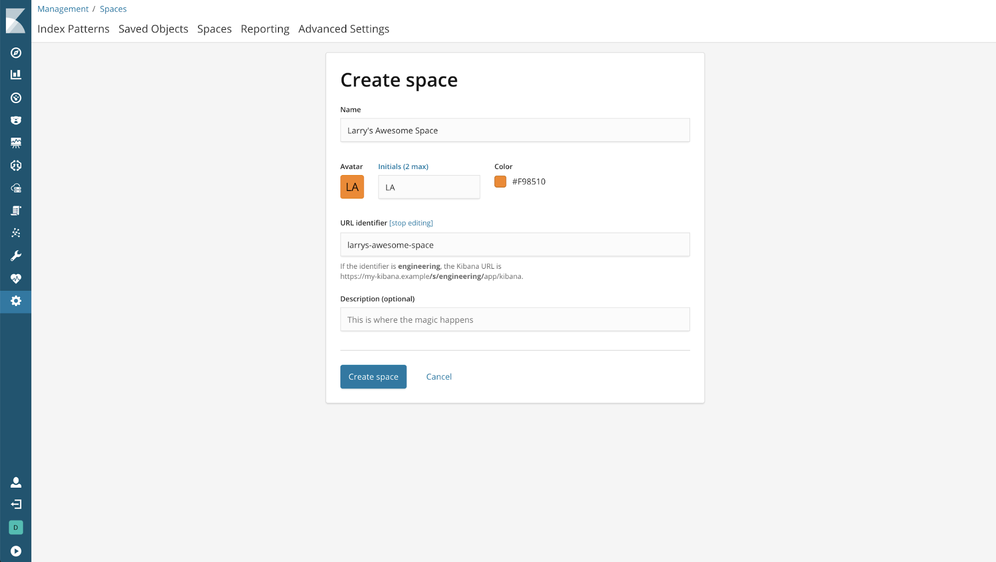Introducing Kibana Spaces for Organization and Security | Elastic Blog