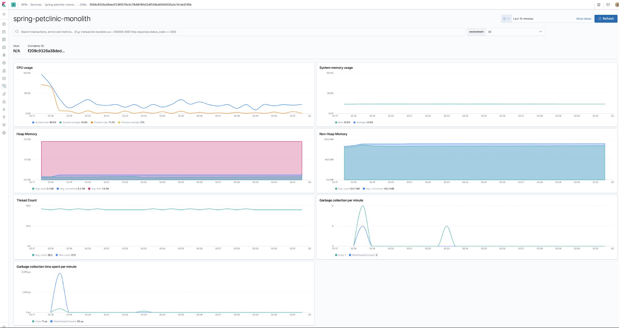Runtime metrics in Elastic APM