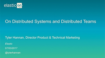 Video for On Distributed Systems and Distributed Teams