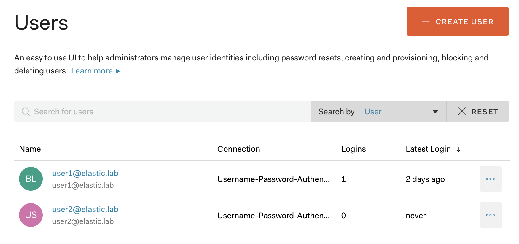 The Auth0 Users UI
