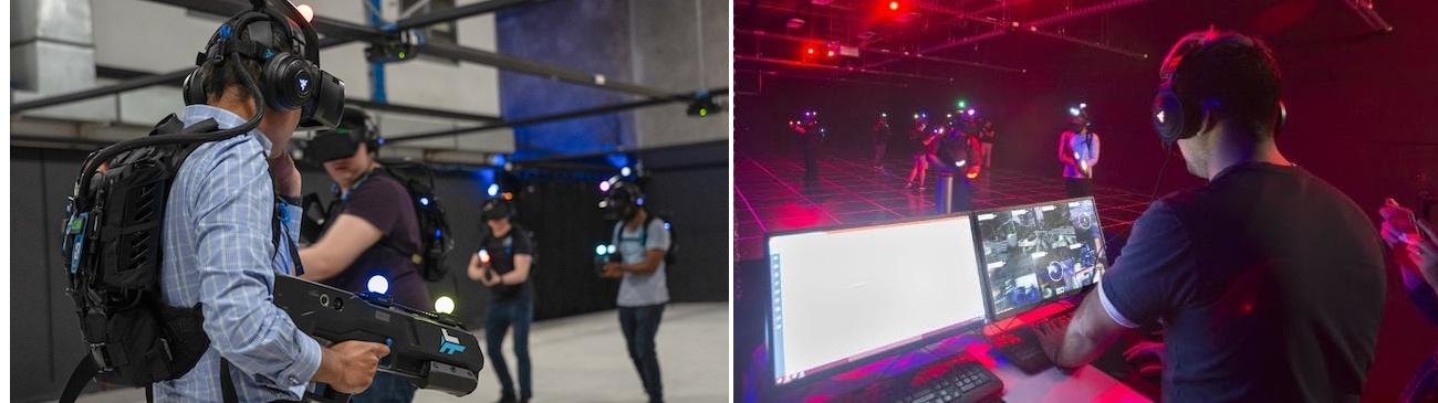 Inside a VR arena
