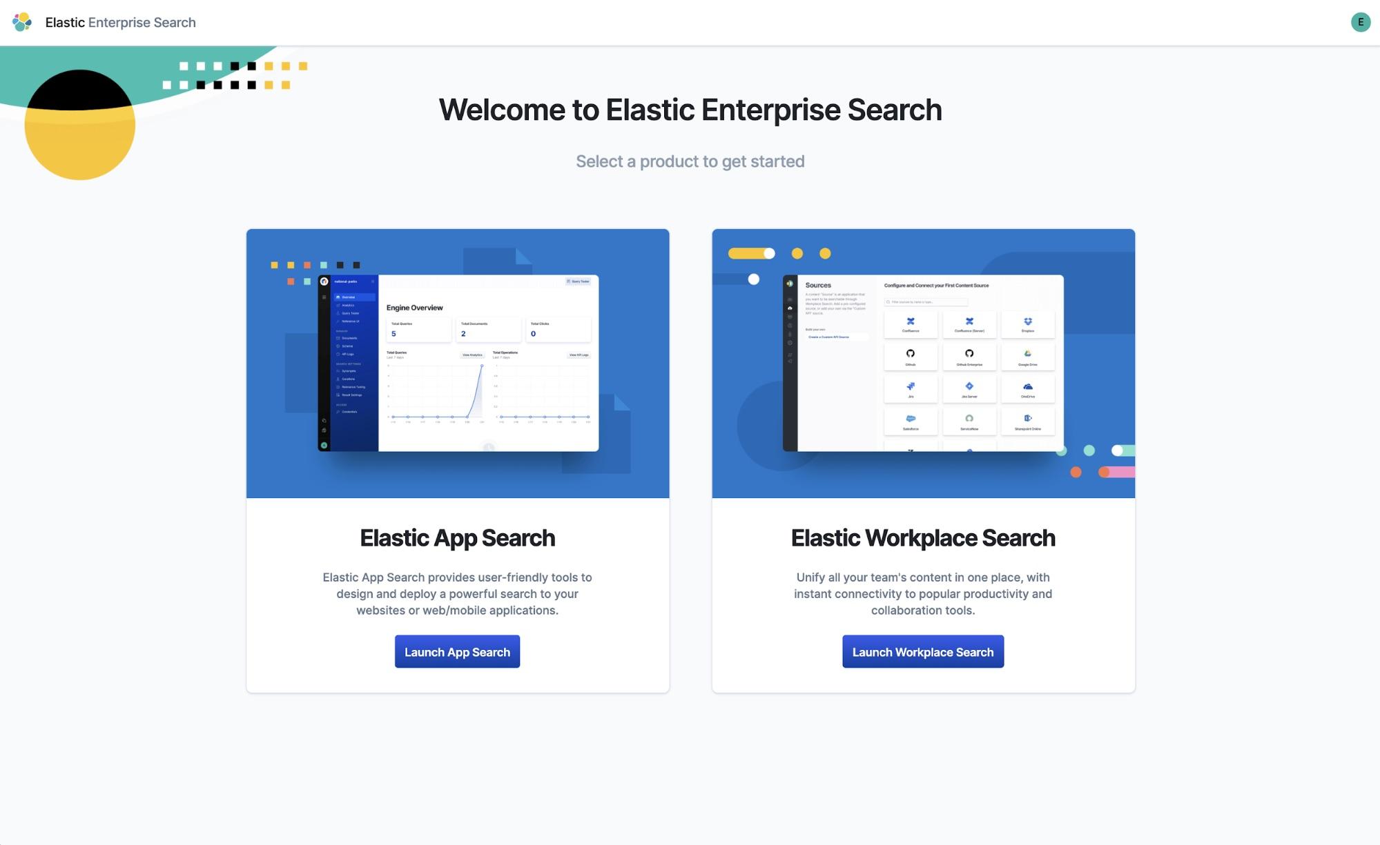 Cliquez sur Launch Workplace Search (Lancer Workplace Search) pour commencer la création de votre déploiement