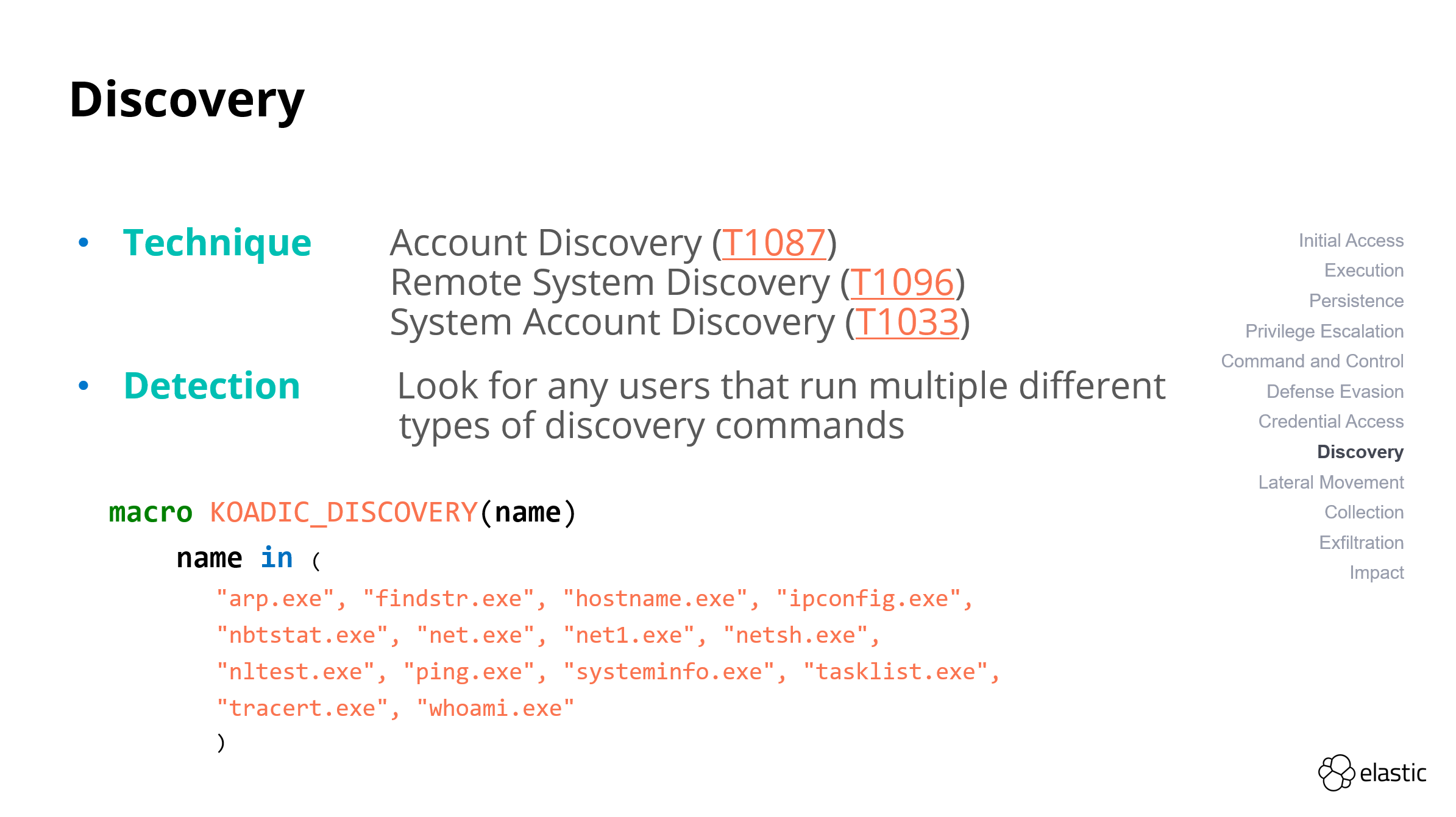 Discovery - macro