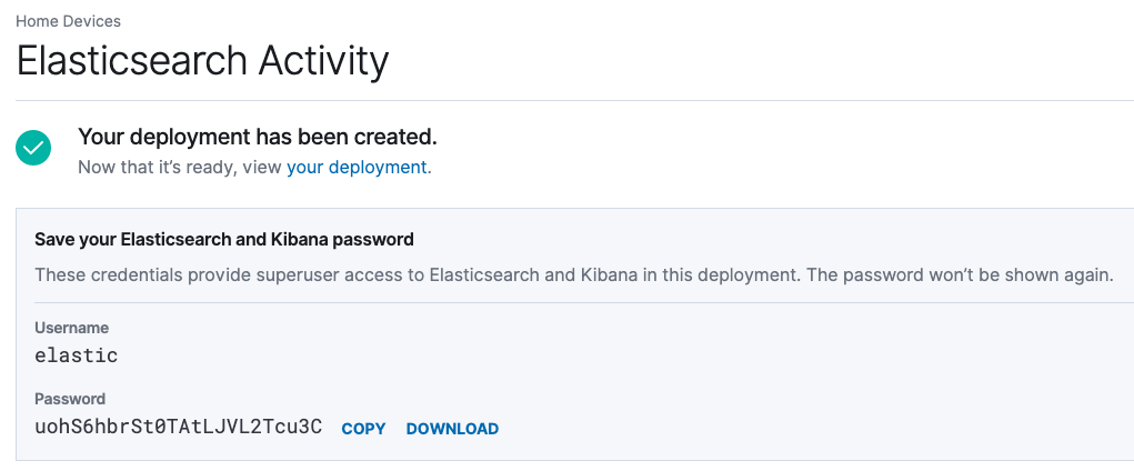 Deploying the Elasticsearch Service