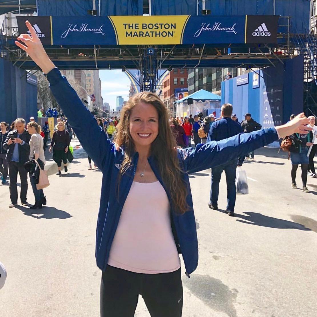 Samantha at the Boston Marathon