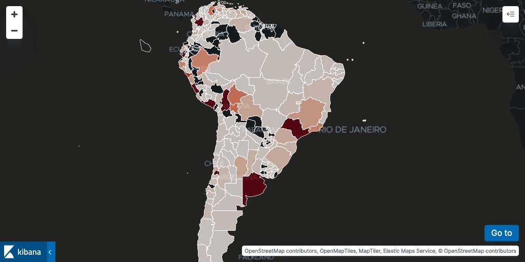 Subdivision layers for South America