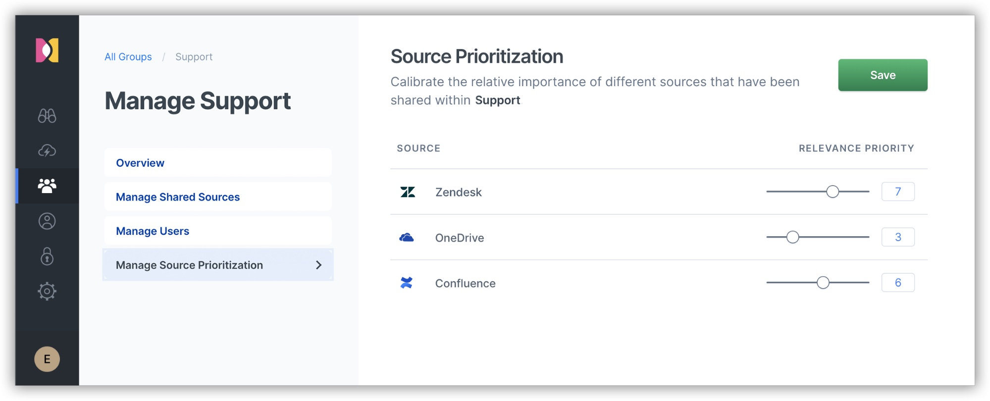 Managing source prioritization