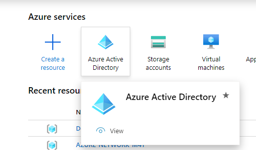 Azure Active Directory settings