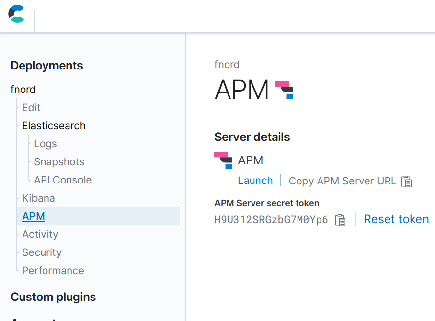 Elastic APM no Cloud Console do Elasticsearch Service