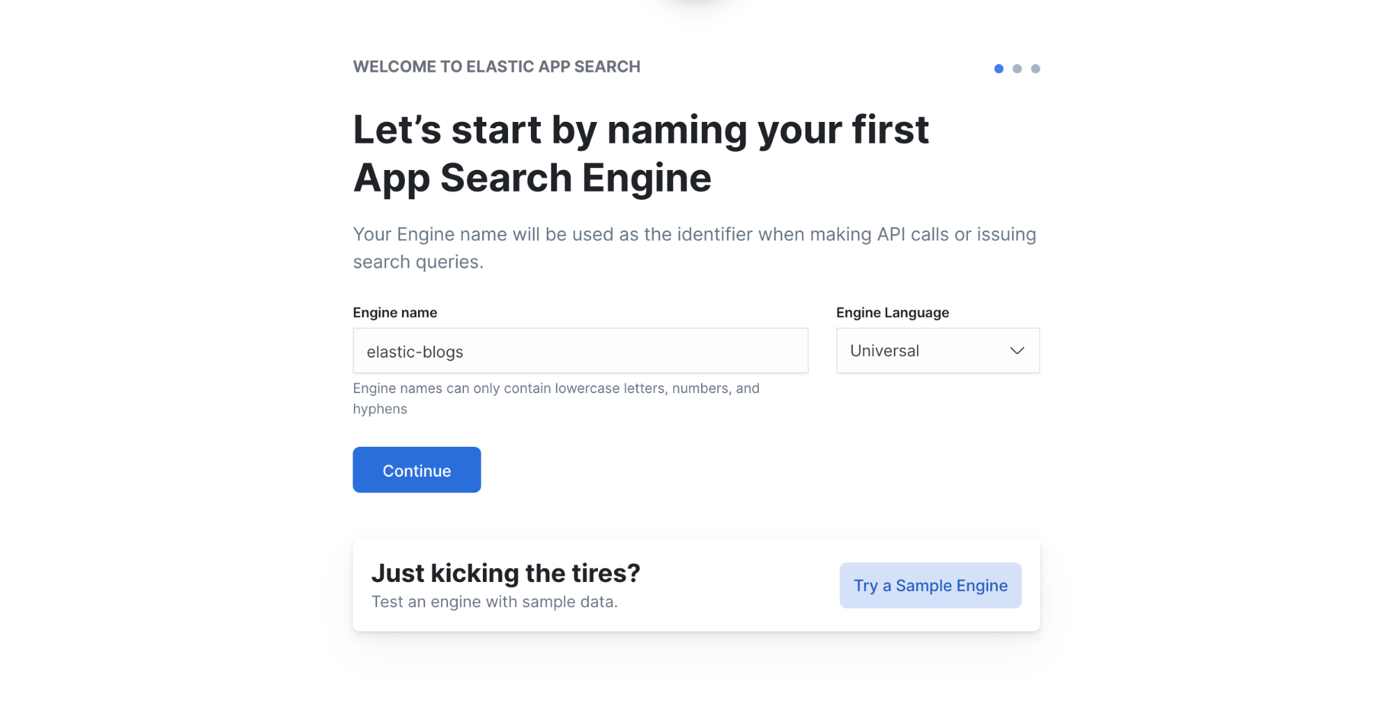 Create your Elastic App Search engine