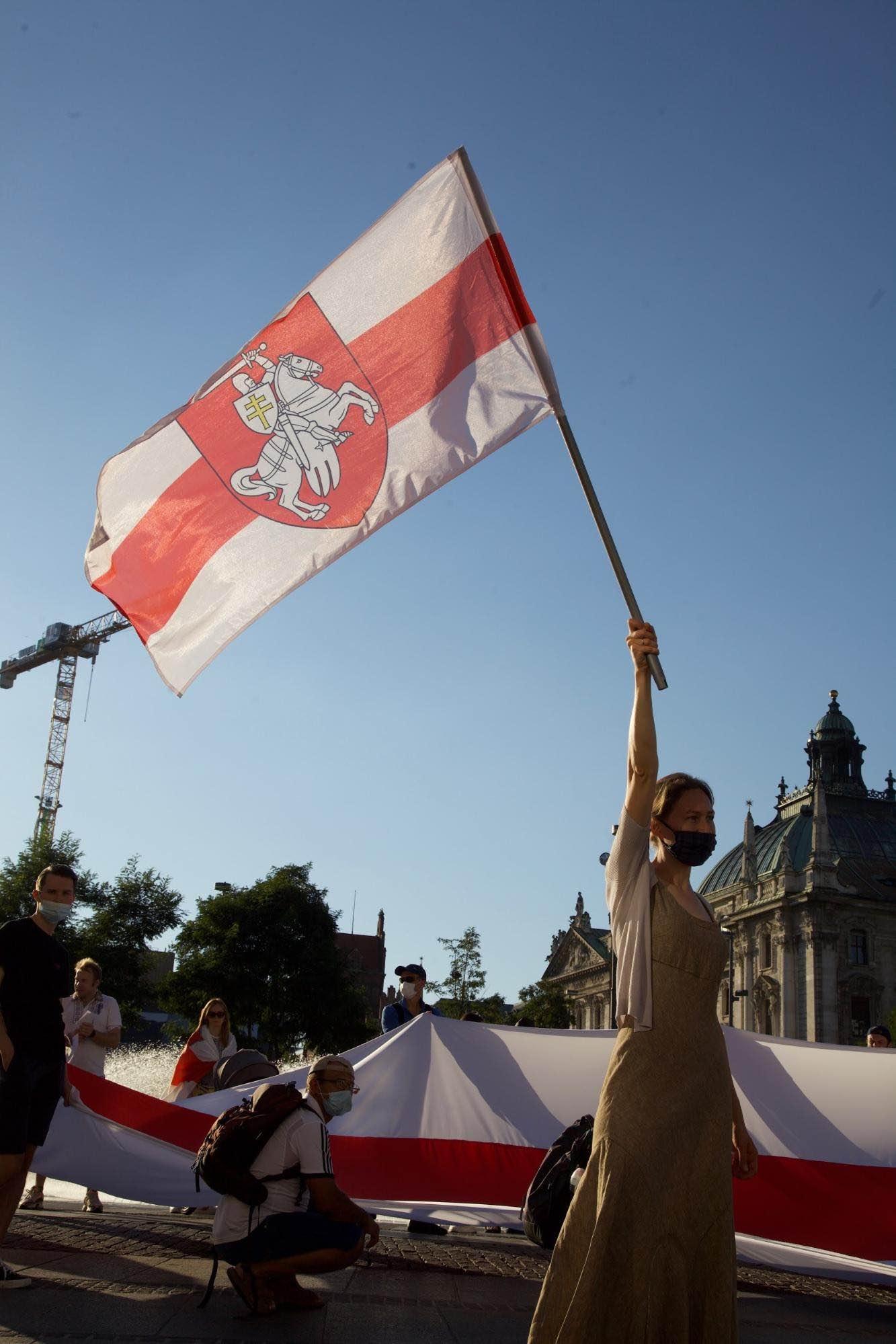 Munich flag protest.
