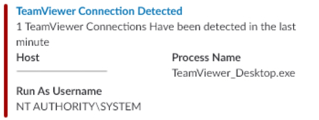 Teamview Connection Detected