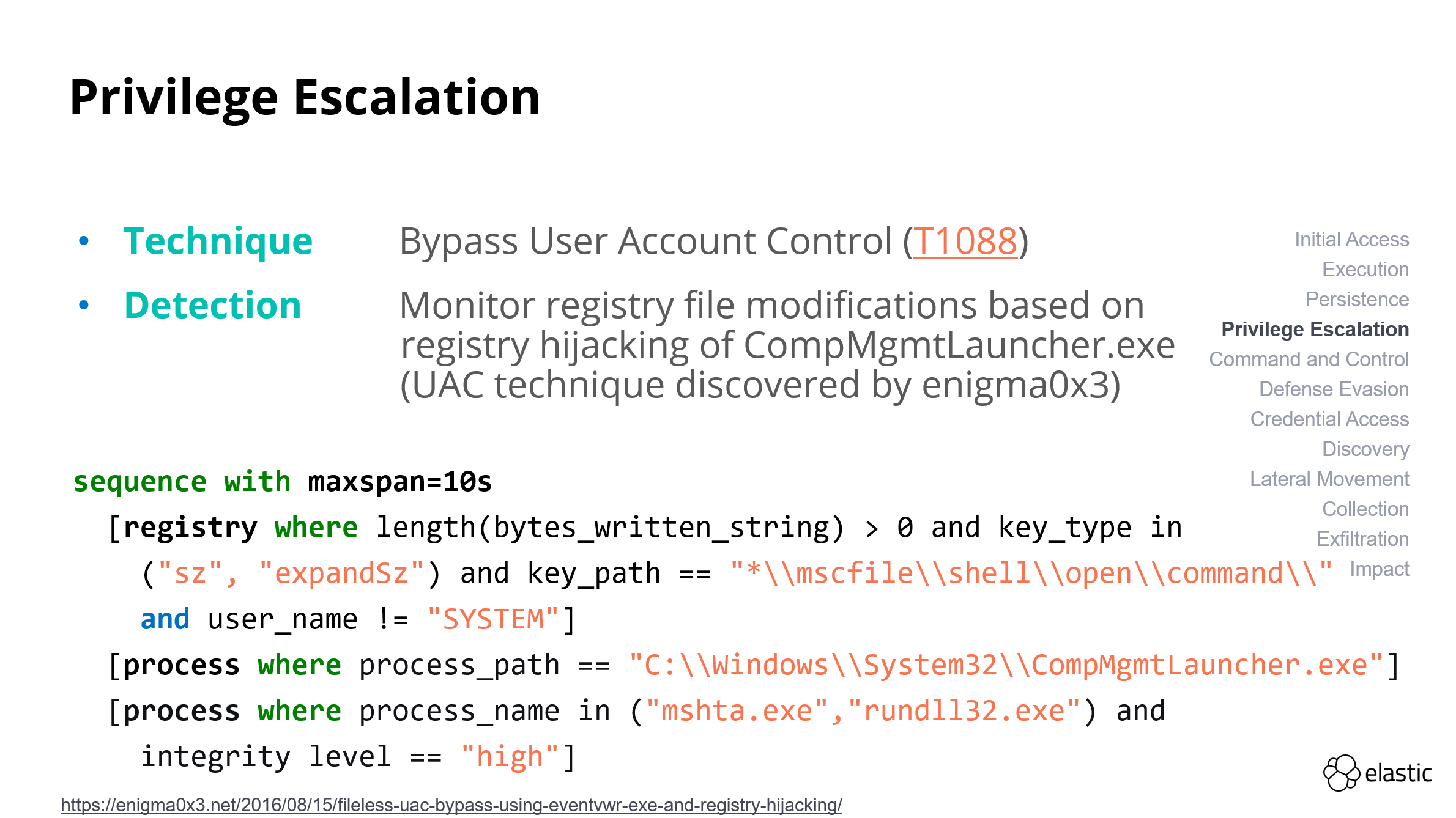 Privilege escalation - UAC bypass