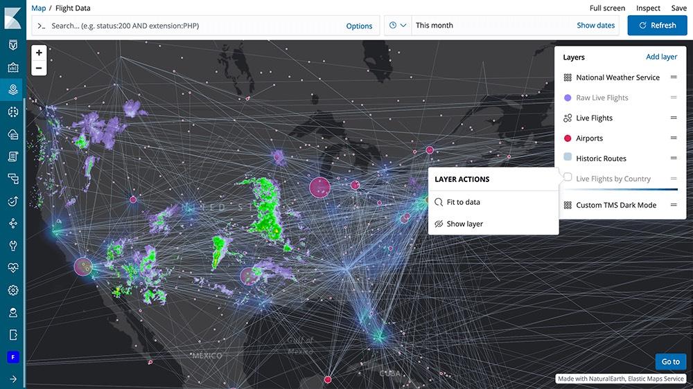 Kibana 6.7 中的 Maps