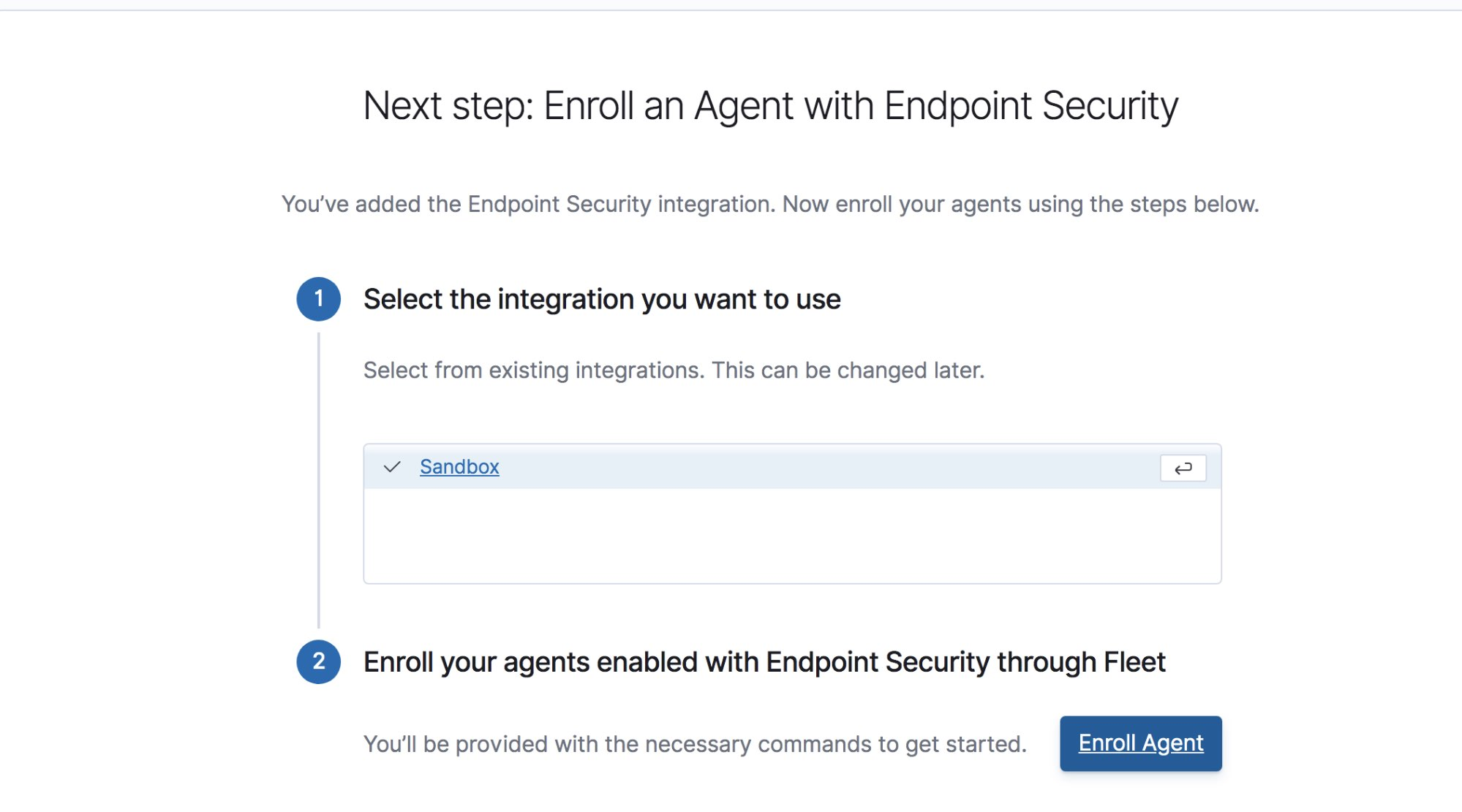 Enroll an agent with Endpoint Security