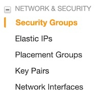 Navigate to Security Groups
