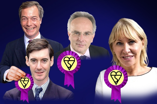Will these Tory MPs want Nigel Farage's kite mark of Euroscepticism ? Photo: Carla Millar.