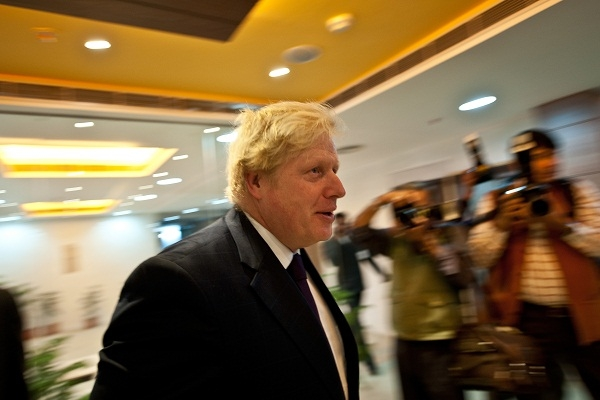 Boris flew to India yesterday, as the Prime Minister addressed the British Curry Awards. Image: Getty.