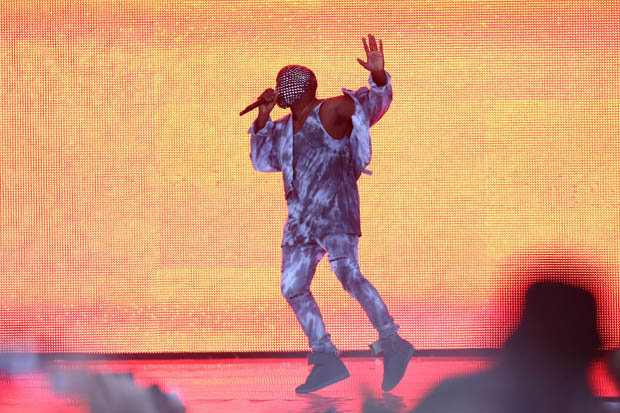 Kanye West at Wireless. Picture: Getty Images