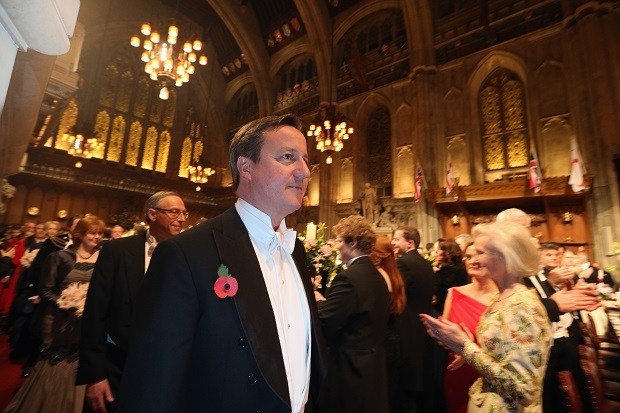 Prime Minister David Cameron Attends The Lord Mayor's Banquet