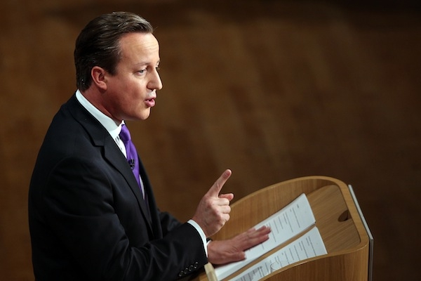 Cameron's speech has received favourable coverage. Photo: Getty Images.