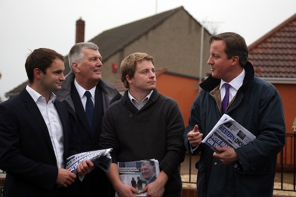 David Cameron on the election trail. At least someone is listening to him. Photo: Getty Images.